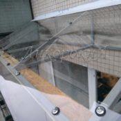 прозрачная крыша на балкон фото в СПб