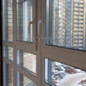 монтаж теплого остекления балкона фото