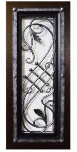 художественная ковка на входной двери Гранит Коттедж фото