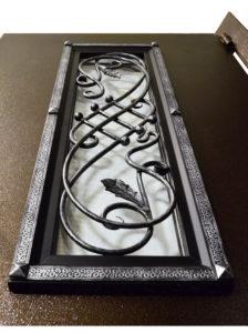 стеклопакет с узором на входной двери фото Гранит Коттедж