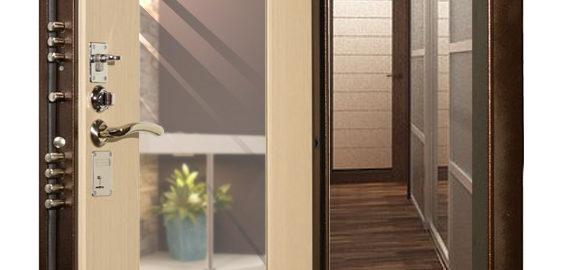 входная дверь Гранит М3 с зеркалом фото