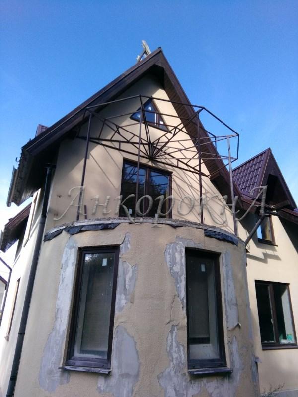 монтаж крыши лоджии фото