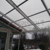 крыша из поликарбоната Ленобласть фото