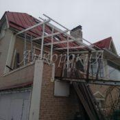работы по остеклению крыши балкон фото СПб