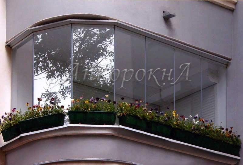 холодное панорамное остекление балкона фото