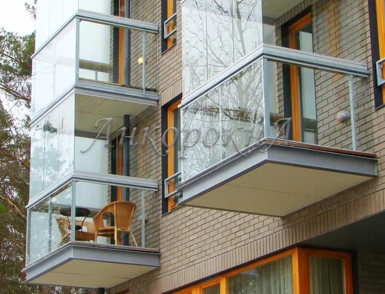 остекление балкона панорамой фото