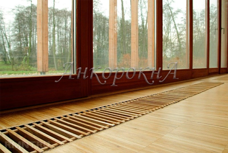 онвекторы в полу у панорамного окна фото