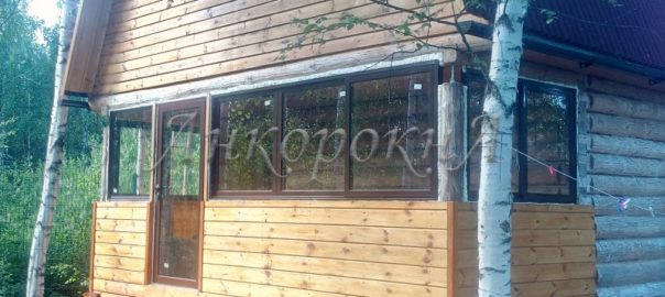 раздвижные окна в срубе фото проведал Рахья