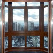 Деревянное остекление балконов фото