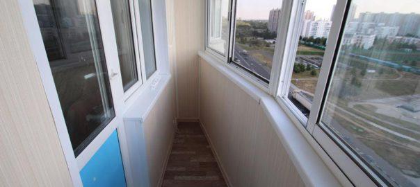 Пример остекления балкона в доме серии П44