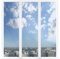 Панорамные алюминиевое окно
